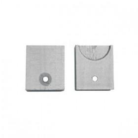 Coppia accessorio per aggancio a muro su appendiabiti in acciao da porta